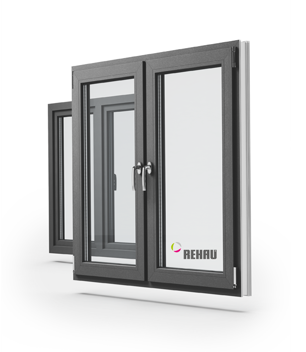 PVC windows in the P-Line system